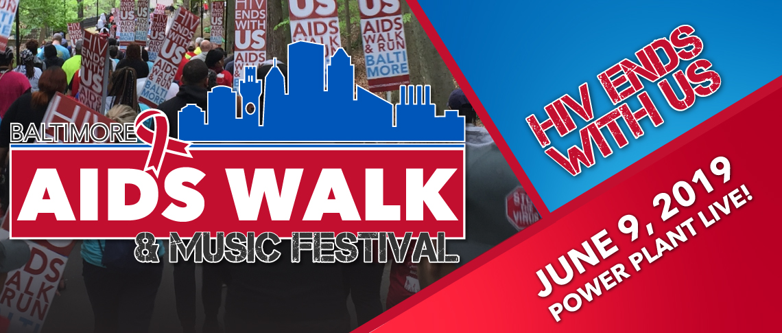 2019 AIDS Walk & Festival Baltimore Header